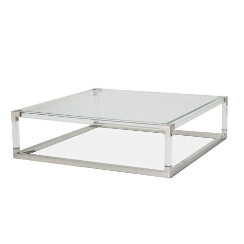 Square Cocktail Table (2 Pc) - Acrylic Legs