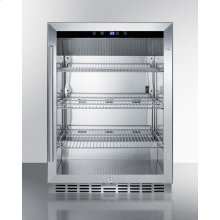 Outdoor Built-in Undercounter Commercial Glass Door Beverage Center With Stainless Steel Interior and Exterior Cabinet