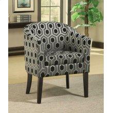 Charlotte Hexagon Print Accent Chair