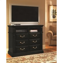 Media Chest - Antique Black Finish