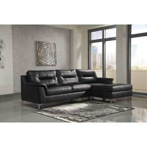 Ashley Furniture Tensas - Black 2 Piece Sectional
