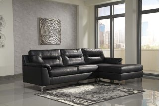 Tensas Sectional Black Right