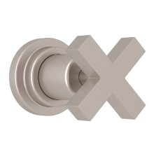 Satin Nickel Lombardia Trim For Volume Control And 4-Port Dedicated Diverter with Cross Handle