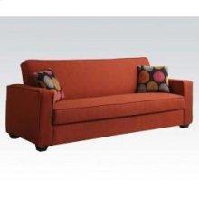 Red Linen Adjustable Sofa @n