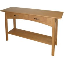 Sofa Table with 2 Drawers and Shelf