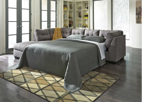 Maier RAF Sectional Sleeper w/LAF Chaise - Charcoal Collection