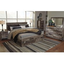 Derekson King Bedroom Set: King Bed, Nightstand, Dresser & Mirror