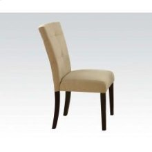 Beige Microfiber Side Chair