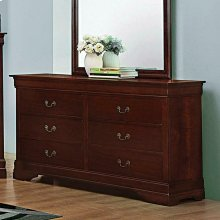 Louis Philippe Reddish Brown Six-drawer Dresser