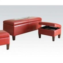 Red 3pc Pk Bench , Ottomans