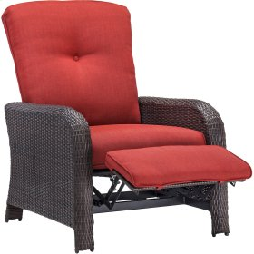 Strathmere Outdoor Reclining Arm Chair in Crimson Red