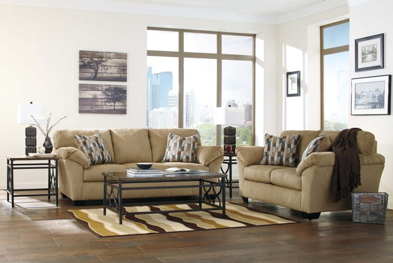 Sofa And Loveseat Set Clearance Floor Model