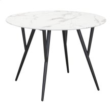 Marcus Dining Table Stone & Matte Black
