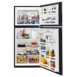 Amana 30-Inch Amana® Top-Freezer Refrigerator With Glass Shelves - Black