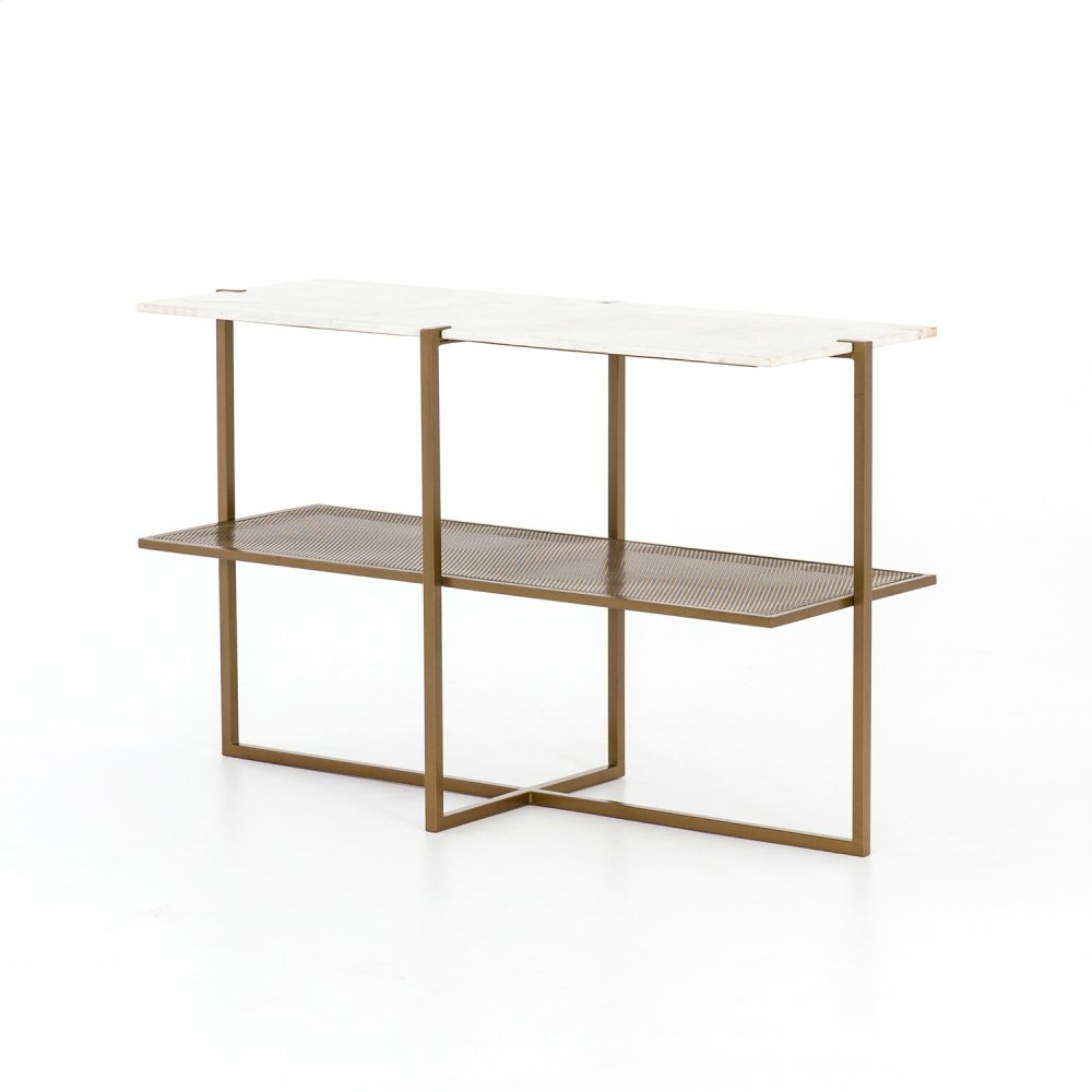 Olivia Console Table-antique Brass