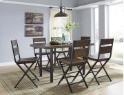 Kavara - Medium Brown 7 Piece Dining Room Set Product Image