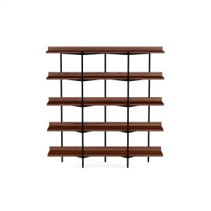 Bdi FurnitureShelving System 5305 in Toasted Walnut Black