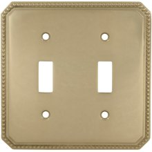 Double Beaded Switchplate in (US3 Polished Brass, Lacquered)