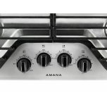 Amana 30-Inch Gas Cooktop With 4 Burners - Stainless Steel