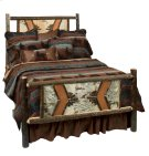 Hickory King Adirondack Bed - Complete - Rustic Alder Rails Product Image