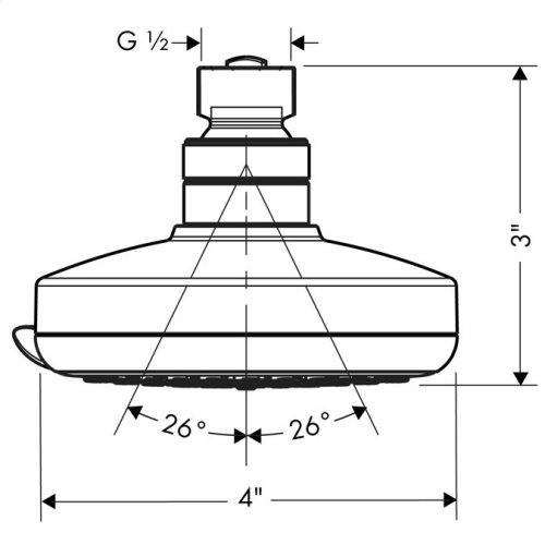 Chrome Showerhead E 3-Jet, 2.5 GPM