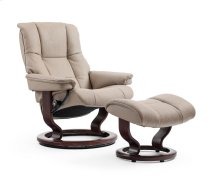 Stressless Mayfair Small Classic Base Chair and Ottoman