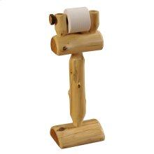Cedar Freestanding Toilet Paper Holder