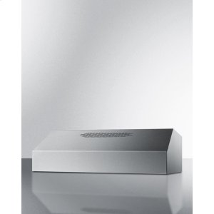 30 Inch Wide 390cfm Convertible Range Hood In Stainless Steel Finish -