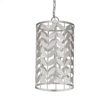 Leaf Motif Pendant In Silver Leaf