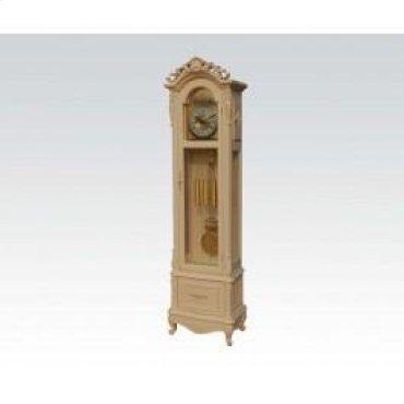 Ant. White Grandfather Clock
