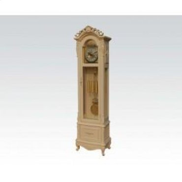 Ant. White Grandfather Clock