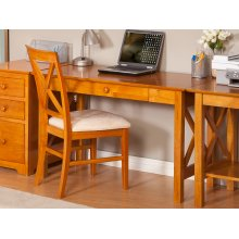 Lexi Desk with Drawer in Caramel Latte