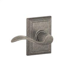 Accent Lever with Addison trim Hall & Closet Lock - Distressed Nickel
