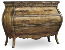 Bedroom Sanctuary Three-Drawer Bombe Nightstand - Bling Product Image