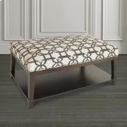 Custom Ottoman Rectangle Ottoman w/Shelf Product Image