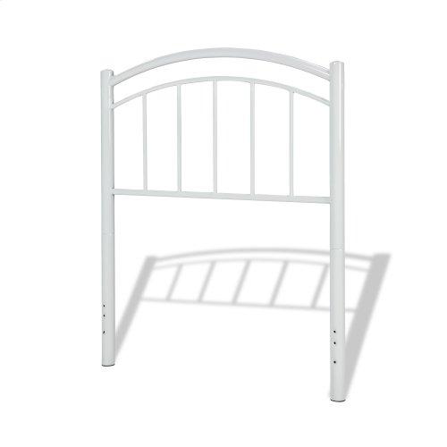 Rylan Kids Bed with Metal Duo Panels, Cotton White Finish, Full