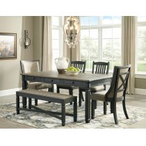 Tyler Creek - Black/Gray 6 Piece Dining Room Set Product Image