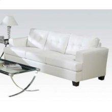 White Bonded Leather Sofa