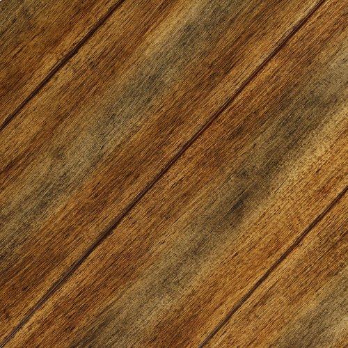 Braden Metal Headboard Panel with Reclaimed Wood Design, Rustic Tobacco Finish, King