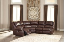 Collinsville - Chestnut 5 Piece Sectional