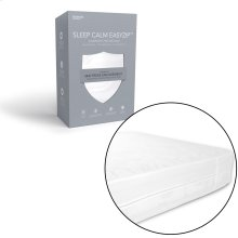Sleep Calm Easy Zip Expandable Mattress Encasement with Stain and Dust Mite Defense, Split King