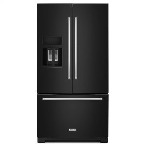 Kitchenaid26.8 cu. ft. 36-Inch Width Standard Depth French Door Refrigerator with Exterior Ice and Water Black