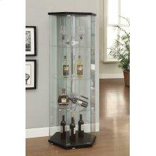 Traditional Glass Hexagon Curio Cabinet