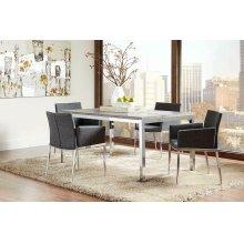 Eldridge Contemporary Weathered Grey Dining Table