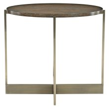 Clarendon Oval End Table in Arabica (377)