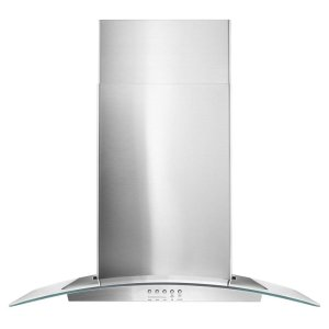 "Whirlpool30"" Concave Glass Wall Mount Range Hood"