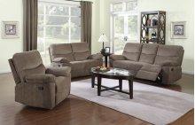Farrah Coffee Brown Reclining Sofa
