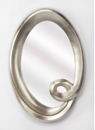 Hanging this mirror in any of your rooms is like making a fashion statement. With it's thick silver tone finished polyurethane frame giving it a fun appearance it will be an asset to your home. It has an oval shape and is ideal for your foyer , where you Product Image