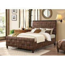 Gallagher Brown Microfiber Upholstered Queen Five-piece Bedroom Set