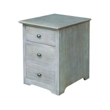 File Cabinet on Castors in Taupe Gray